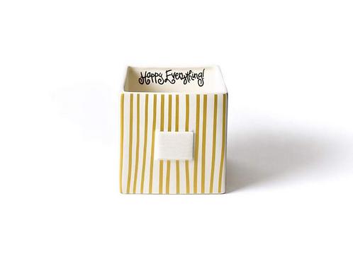 Gold Stripe Mini Nesting Cube Medium