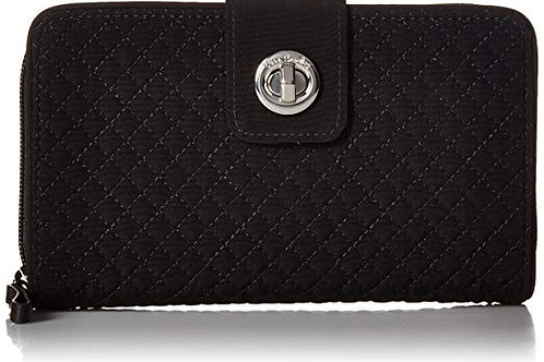 Iconic RFID Turnlock Wallet Classic Black