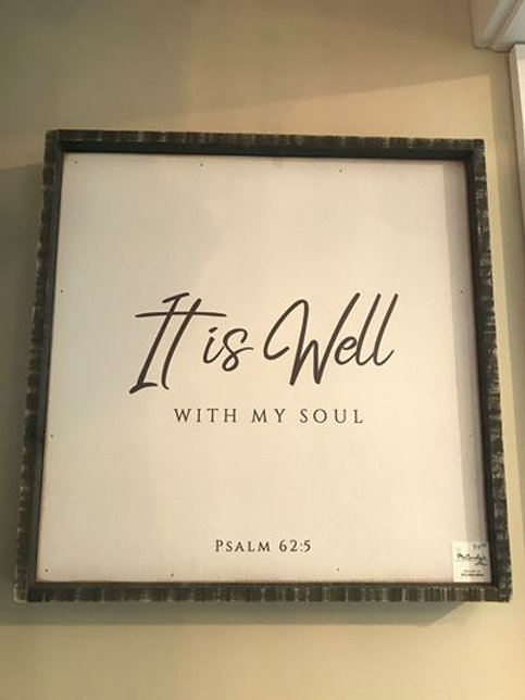 Distressed Wooden Sign- Psalm 62:5