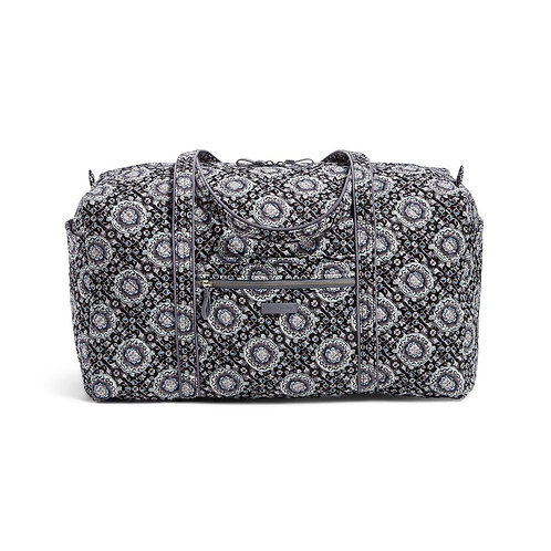 Iconic Large Travel Duffel Charcoal Medallion