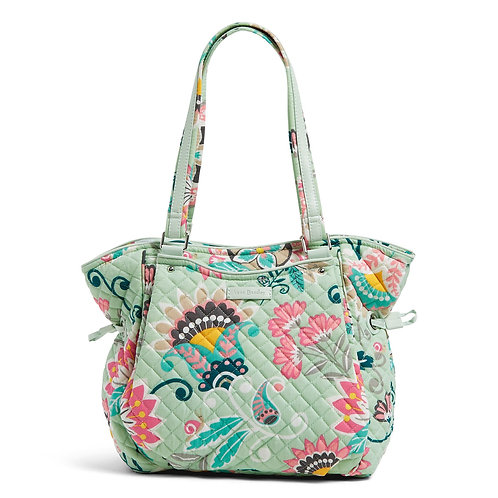 Iconic Glenna Satchel Mint Flowers