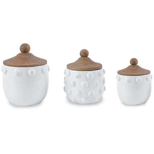 Mudpie Raised Dot Canister Set