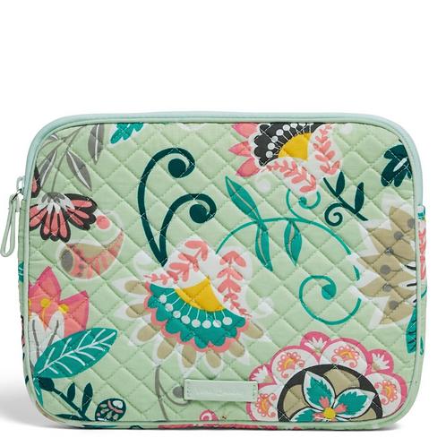 Vera Bradley Iconic Tablet Sleeve - Mint Flowers