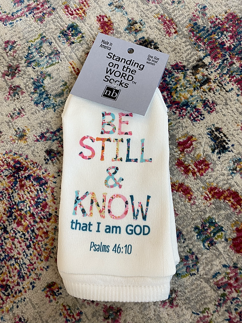 Standing On The Word Socks Psalms 46:10