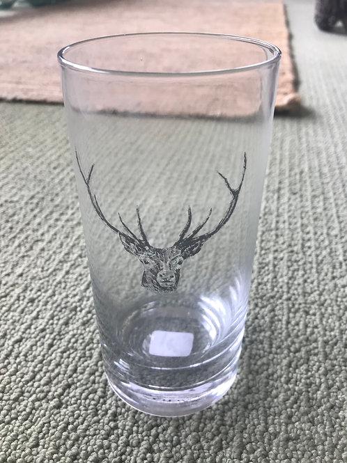 Zodax Tall Beverage Glass- Deer