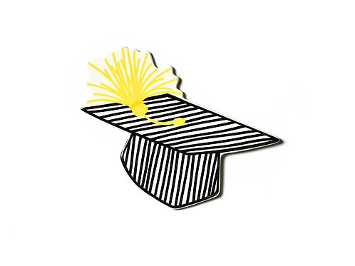Coton Colors Striped Graduation Hat Mini Attachment