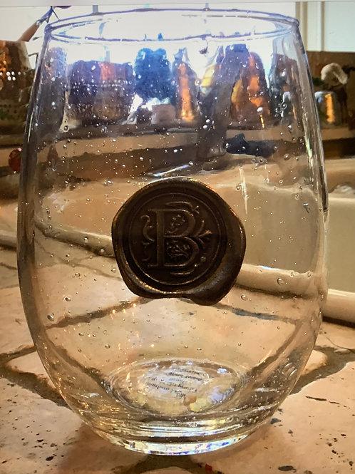 "Engraved Wine Glasses- ""B"""