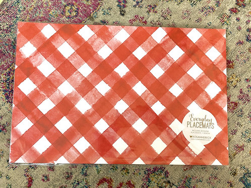 Red Check Paper Placemat (20pk)