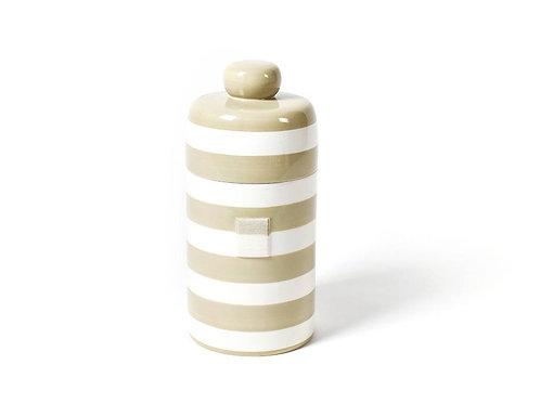 Coton Colors Neutral Stripe Mini Canister