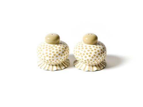 Coton Colors Small Dot Ruffle Salt and Pepper Shakers Set