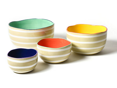 Coton Colors Cobble Plank Dizzy Bowl Set of 4