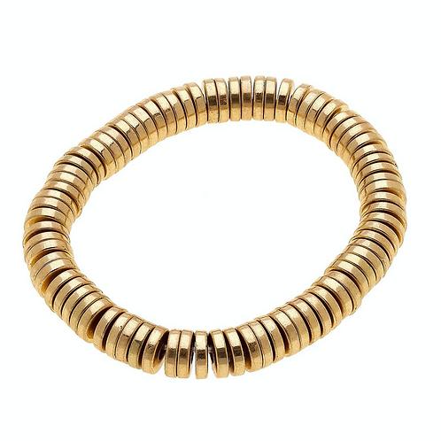 Emberly Bracelet In Worn Gold