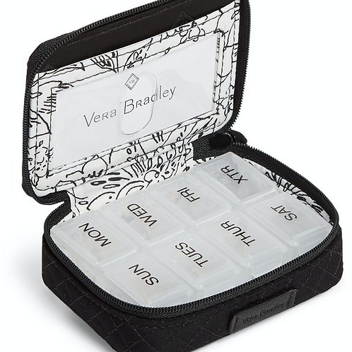 Travel Pill Case Classic Black