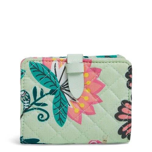 Iconic RFID Small Wallet Mint Flowers
