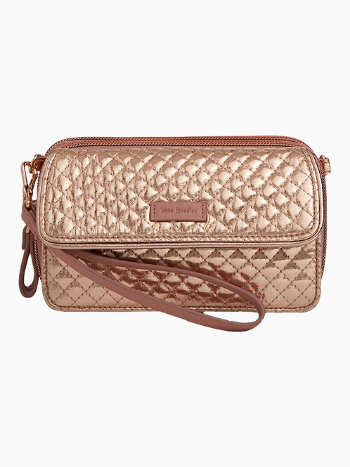 Iconic RFID All in One Crossbody Rose Golf Shimmer