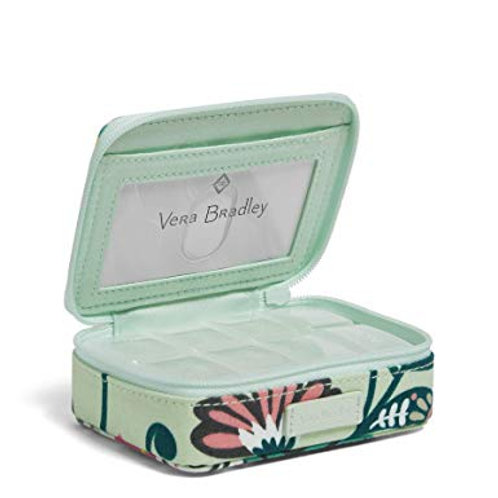 Iconic Travel Pill Case Mint Flowers