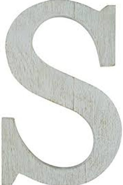 "Mudpie Wooden Initial ""S"""