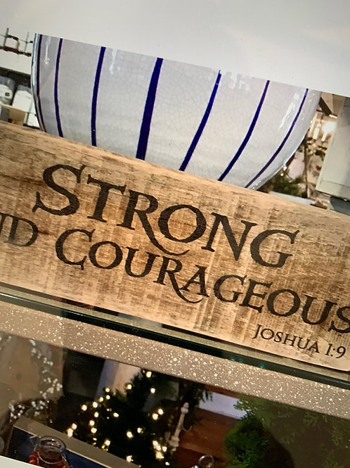 Small Wooden Sign- Joshua 1:9