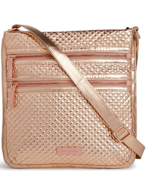 Iconic Triple Zip Hipster Rose Gold Shimmer