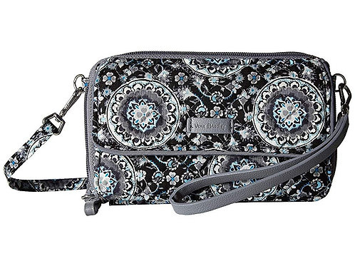 Iconic RFID All in One Crossbody Charcoal Medallion