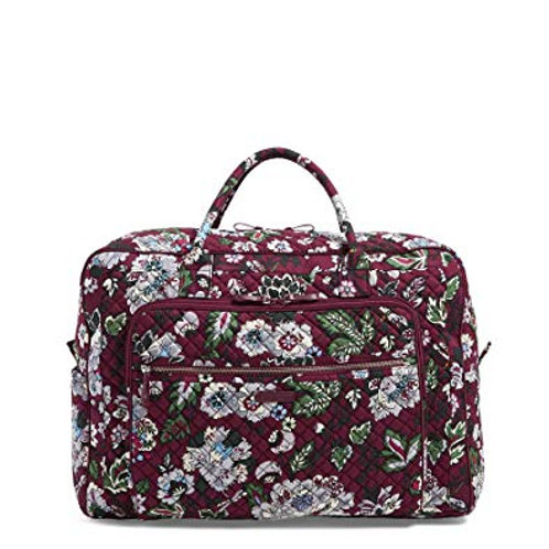 Iconic Grand Weekender Travel Bag Bordeaux Blooms