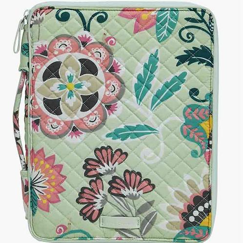 Vera Bradley Iconic Tablet Tamer Organizer - Mint Flowers