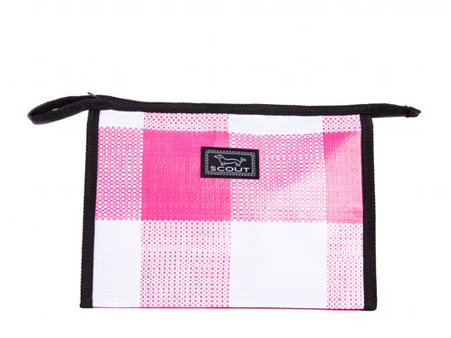 Audrey Pouch - Pink Check