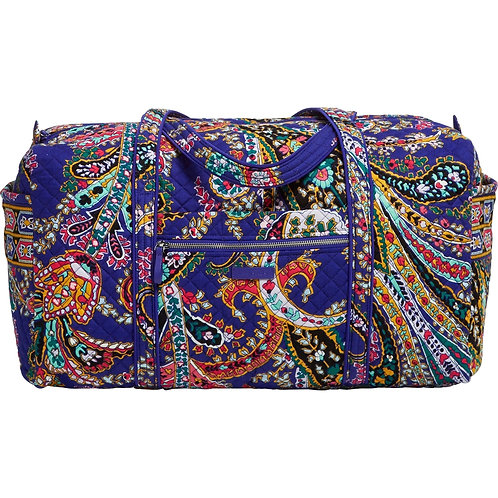 Iconic Large Travel Duffel Romantic Paisley