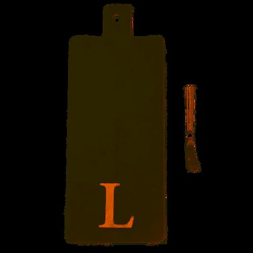 "Initial Copper Marble Board- ""L"""