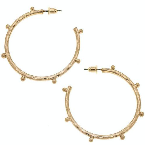 Josie Hoop Earrings in Worn Gold