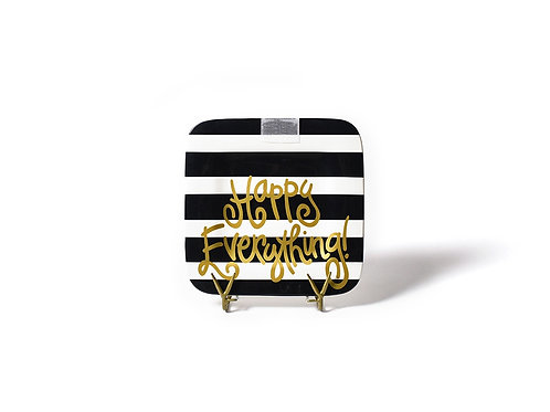 Coton Colors Black Stripe Happy Everything Mini Platter