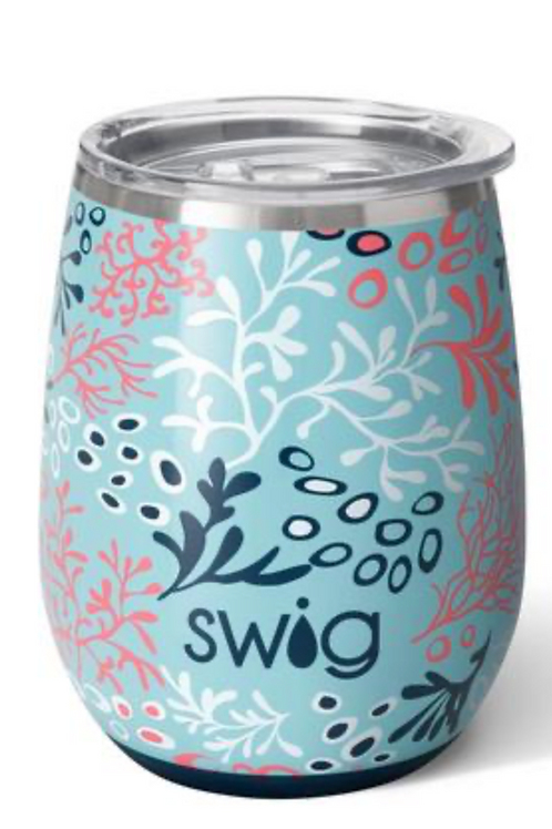 Coral Me Crazy Stemless Wine Cup (14oz)