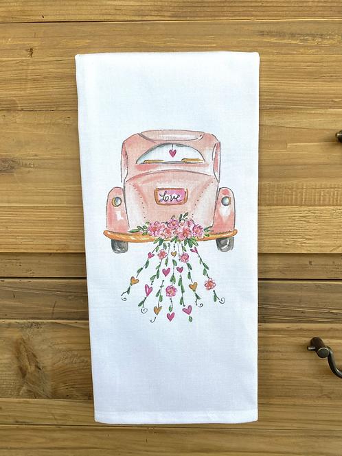 Love Car kitchen Towel