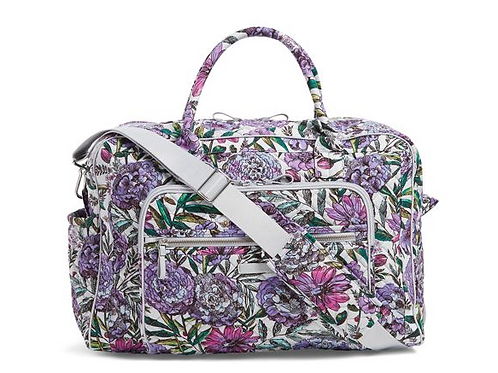 Iconic Weekender Travel Bag Lavender Meadow
