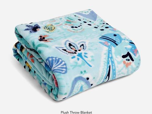 Vera Plush Throw Blanket Paisley Wave