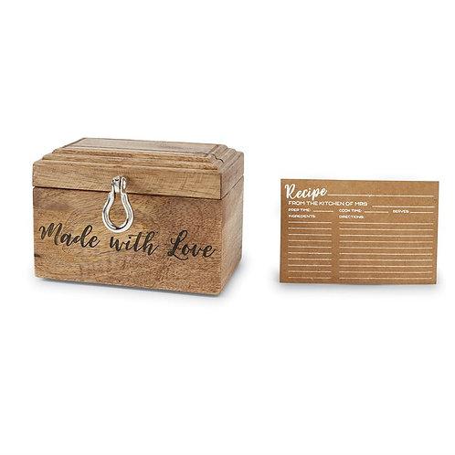 Made With Love Recipe Box