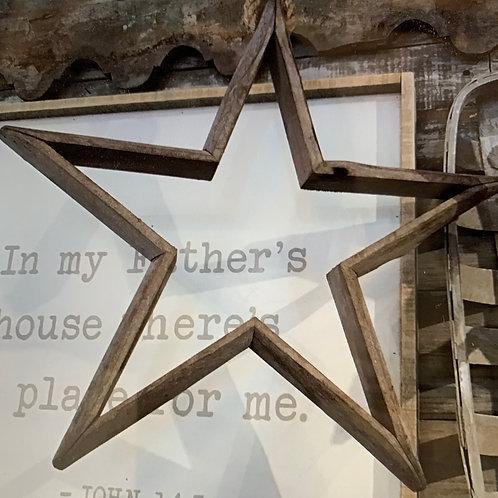 Hanging Wood Star Ornament