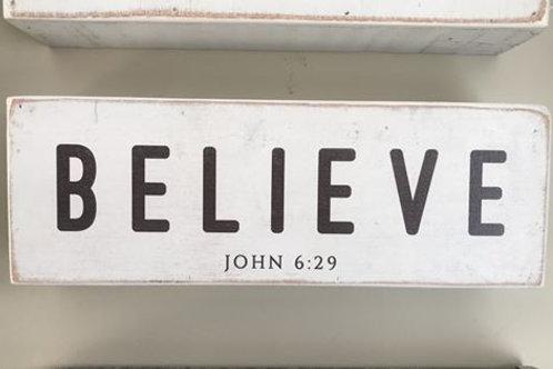 Small Wooden Sign- John 6:29
