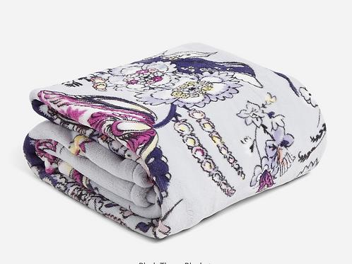 Vera Plush throw Blanket Hummingbird Park