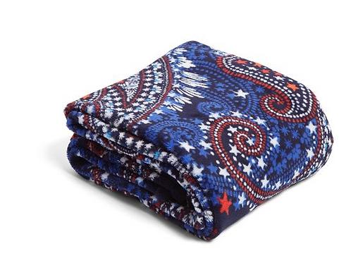Plush Throw Blanket Fireworks Paisley
