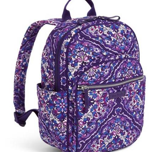Vera Bradley Iconic Small Backpack - Regal Rosette