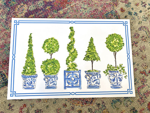 Handpainted Topiary Paperplacemats (20pk)