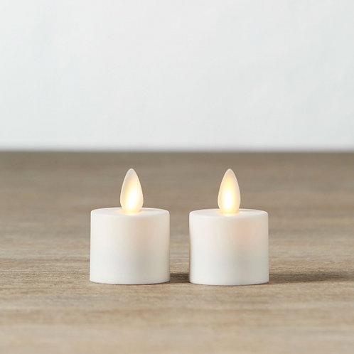 Small Ivory LED Tealights- Set of 2