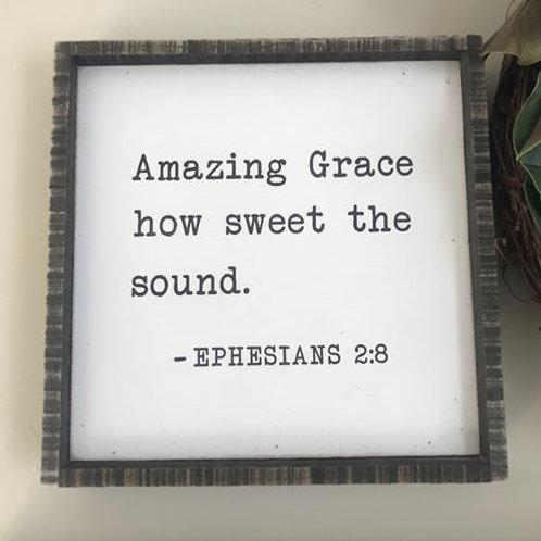Distressed Wooden Sign-Ephesians 2:8