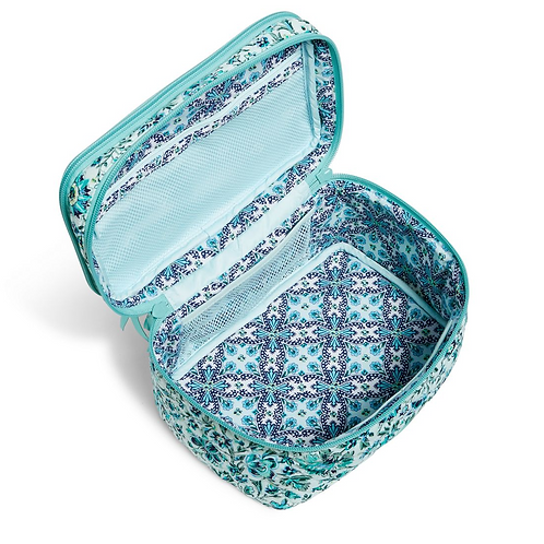Vera Bradley Iconic Brush Up Cosmetic Case - Cloud Vine