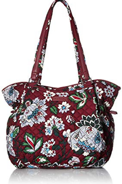Iconic Glenna Satchel Bordeaux Blooms