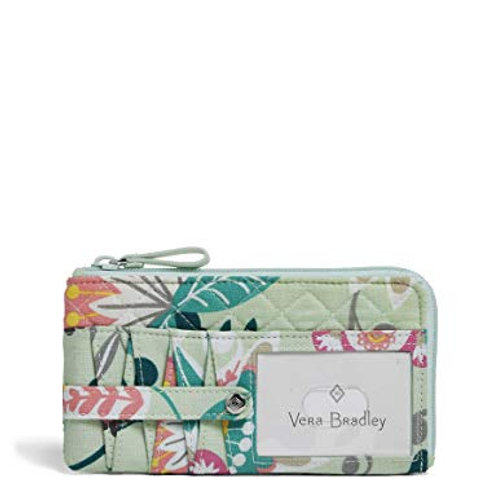 Iconic RFID Ultimate Card Case Mint Flowers