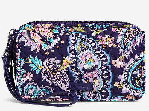 RFID All in One Crossbody French Paisley