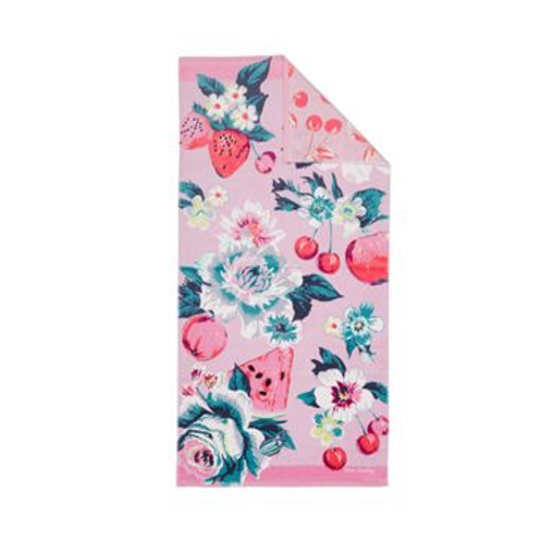 Vera Bradley Double Sided Beach Towel- Rosy Garden Picnic
