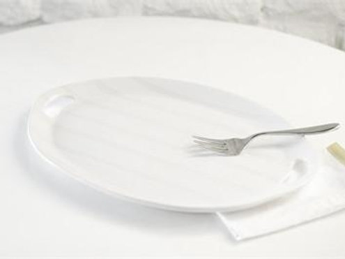 Coton Colors Oval Plank White Platter